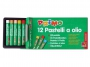 5573012 - pastele, kredki olejowe / olejne Primo CMP Morocolor owinięte papierem, średnica 8 mm, długość 60 mm, 12 kolorów w pudełku kartonowym