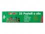 5573025 - pastele, kredki olejowe / olejne Primo CMP Morocolor owinięte papierem, średnica 8 mm, długość 60 mm, 25 kolorów w pudełku kartonowym