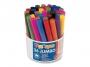 57223134 - flamastry szkolne - duży zestaw Primo CMP Morocolor Jumbo, grubość końcówki 8 mm, 3 x 12 kolorów, w plastikowym kubełku, 36 szt./op.
