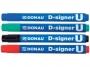5728002_ - marker permanentny Donau D-Signer U okrągła końcówka, gr.linii 2-4 mm