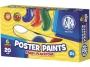 58306 - farby plakatowe 6 kolorów w pojemniczkach Astra 6 x 20 ml