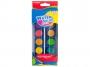 583121 - farby akwarelowe 12 kolorów wodne Keyroad w pastylkach, zestaw + pędzelek