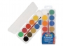 5836112 - farby akwarelowe 12 kolorów wodne Primo CMP Morocolor w pastylkach o śr.25 mm, zestaw + pędzelek w pudełku plastikowym