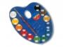 5836212 - farby akwarelowe 12 kolorów wodne Primo CMP Morocolor w pastylkach o śr.25 mm, zestaw + pędzelek, opakowanie w formie paletki do mieszania kolorów