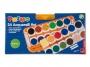 5836421 - farby akwarelowe 24 kolory wodne Primo CMP Morocolor w pastylkach o śr.30 mm, zestaw + pędzelek + 2 tubki