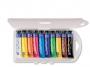 5837010 - farby plakatowe 10 kolorów w tubkach Primo CMP Morocolor w pudełku plastikowym, 10 x 12 ml