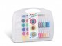 5837150 - farby plakatowe w tubkach 14 kolorów, farby wodne w pastylkach 15 kolorów + akcesoria Primo CMP Morocolor , zestaw, walizka z przegródkami