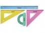 7150004 - zestaw geometryczny duży Donau linijka +2 ekierki +kątomierz, kolorowy