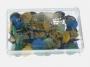 73102 - pinezki do tablic korkowych, kolorowe płaskie kolorowe  mix kolorów 50 szt./op.