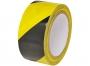 744991 - taśma ostrzegawcza  48mm x 25m, czarno-żółta
