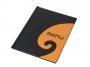 76724751 - okładka na menu A4 Panta Plast Fala czarno - pomarańczowa
