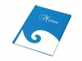 76724752 - okładka na menu A4 Panta Plast Fala niebiesko - biała