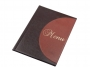76724757 - okładka na menu A4 Panta Plast S ciemnobrązowo - jasnobrązowa