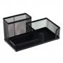 7764046 - przybornik na biurko Deli metalowy, ażurowy, czarny, 009150