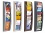 7764069_ - stojak prezentacyjny, informacyjny naścienny 5 półek 1/3 A4 na katalogi, czasopisma, ulotki Paperflow półka DLTowar dostępny do wyczerpania zapasów u producenta!