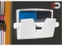 77658113 - półka wisząca na dokumenty, ulotki, czasopisma Cep naścienna, magnetyczna, plastikowa, szara