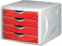 77717_ - pojemnik na dokumenty, czasopisma / sorter biurkowy Helit Kameleon z 4 szufladami