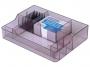 777538__ - przybornik na biurko Donau 8 komór, transparentny