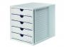 777633__ - pojemnik na dokumenty, czasopisma / sorter biurkowy HAN Systembox A4 z 5 szufladami