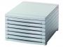 77763913 - pojemnik na dokumenty, czasopisma / sorter biurkowy HAN Contur A4+ z 6 szufladami zamkniętymi, szary
