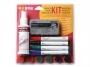 77859050 - marker do tablic suchościeralnych whiteboard, płyn do czyszczenia, gąbka magnetyczna / wycierak Bi-Office zestaw akcesoriów