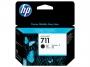 84618814 - tusz, wkład atramentowy Hewlett Packard HP 711, CZ133A, czarny poj.80 ml.