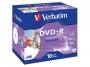 925386 - płyty DVD+R Verbatim AZO Wide Inkjet Printable ID Brand, 4,7GB, 16x, jewel case, 1 szt.