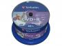 925388 - płyty DVD+R Verbatim AZO Wide Inkjet Printable Full, 4,7GB, 16x, cake 50 szt.