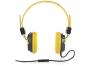 95m1601 - słuchawki Modecom  MC-400 Circuit zółte z mikrofonem