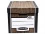 97f00610 - pudło archiwizacyjne Fellowes Woodgrain, karton o wymiarach 325x285x385 mm, 2 szt./op.