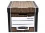97f0061a_ - pudło archiwizacyjne Fellowes Woodgrain, karton o wymiarach 325x285x385 mm, 10 szt./op.
