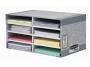97f08750 - półka na dokumenty, sorter biurkowy do dokumentów Fellowes FastFold 8 przegródek, kartonowy
