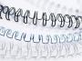 97f54453 - grzbiet do bindowania drutowy 12 mm, A4 Fellowes skok 3:1, srebrny, 100 szt./op.