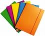 R000215 - teczka z gumką A4 Office Products Fluo, kartonowa lakierowana, mix kolorów