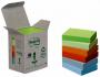 R000307 - karteczki samoprzylepne 3M Post-it 653-1GB 38x51 mm, ekologiczne, mix kolorów, 6x100 kartek