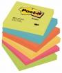 R000327 - karteczki samoprzylepne 3M Post-it 654-TFEN 76x76 mm, 6x100 kartek, paleta energetyczna