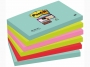 R000336 - karteczki samoprzylepne 3M Post-it Super Sticky 655-6SS-MIA 76x127 mm, 6x90 kartek paleta Miami