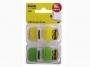 R000389 - zakładki indeksujące samoprzylepne Post-it 6923SP-45PO PP, 25,4x43,1 mm, 2 kolory, 2x50 kartek