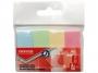 R000408 - zakładki indeksujące samoprzylepne Office Products papierowe, 20x50 mm, zawieszka, mix kolorów pastelowych, 4x50 kartek