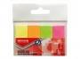 R000409 - zakładki indeksujące samoprzylepne Office Products papierowe, 20x50 mm, zawieszka, mix kolorów neonowych, 4x50 kartek