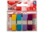 R000410 - zakładki indeksujące samoprzylepne Office Products PP, 12x43 mm, zawieszka, mix kolorów pastelowych, 4x35 kartek