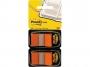 R000417 - zakładki indeksujące samoprzylepne Post-it 680-O2EU PP, 25x43 mm, pomarańczowe, 2x50 kartek