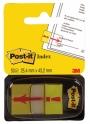 R000420 - zakładki indeksujące samoprzylepne Post-it 680-33 z wykrzyknikiem PP, 25x43 mm, 50 kartek
