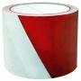 R001765 - taśma ostrzegawcza nieklejona biało-czerwona 75mm x 100m