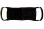 R002795 - maseczka ochronna bawełniana, 1 warstwowa, z gumką, wielorazowa, czarna