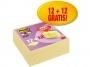 R002823 - karteczki samoprzylepne 3M Post-it 654SSCYP12+12 76x76mm, żółte, 12+12x90 kart.