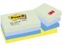 R002827 - karteczki samoprzylepne 3M Post-it 653-MTDR 38x51mm, ekologiczne, Marzycielskie mix kolorów, 12x100 kart.