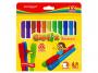 R003291 - flamastry szkolne Keyroad Capfix Markers zmywalne, mix kolorów, 12szt.