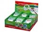 R003364 - temperówka plastikowa pojedyncza Keyroad Cappy z gumką, mix kolorów, 18 szt.