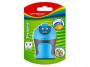 R003385 - temperówka plastikowa podwójna Keyroad Soft Touch ostrzenie w szpic, mix kolorów